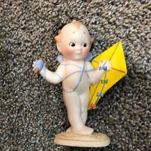 Kewpie statue 1990 kid with kite